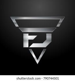 FJ Logo, Monogram, Metal