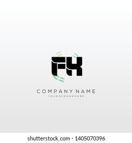 FK initial letter abstract logo design vector.