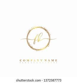 FK Initial luxury handwriting logo vector