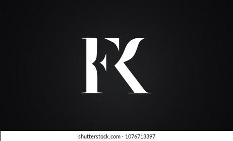 FK Letter Logo Design Template Vector
