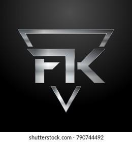 FK Logo, Monogram, Metal