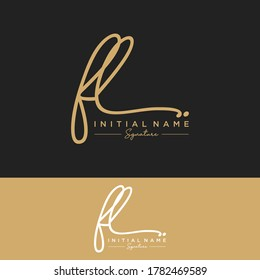 FL Initial letter handwriting and signature logo.