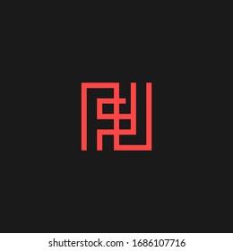 fl letter vector logo abstract