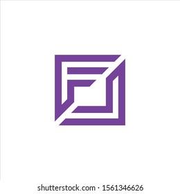 FL or LF Letter Logo Design