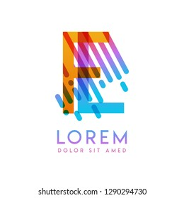 FL logo with the theme of galaxy speed and style that is suitable for creative and business industries. LF Letter Logo design for all webpage media and mobile, simple, modern and colorful