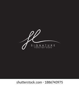 FL Signature Logo - Handwritten Vector Logo for Initial Letter F and L