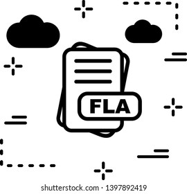 FLA  File Format Icon For Your Project