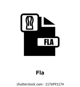 Fla icon vector isolated on white background, logo concept of Fla sign on transparent background, filled black symbol