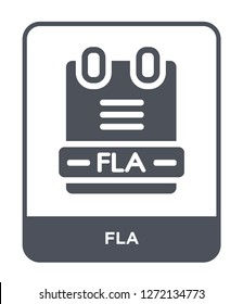 fla icon vector on white background, fla trendy filled icons from File type collection, fla simple element illustration