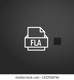 Fla vector icon. Fla concept stroke symbol design. Thin graphic elements vector illustration, outline pattern for your web site design, logo, UI. EPS 10.