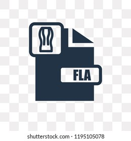 Fla vector icon isolated on transparent background, Fla transparency concept can be used web and mobile