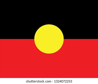 Flag of Aboriginal vector illustration isolated on white. Colorful vector.