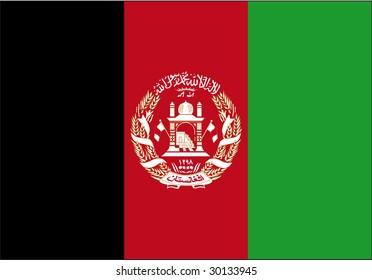 a flag of Afghanistan