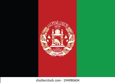 Flag of Afghanistan. Vector. Accurate dimensions, elements proportions and colors.