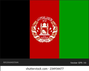 Flag of Afghanistan. Vector. Accurate dimensions, elements proportions and colors