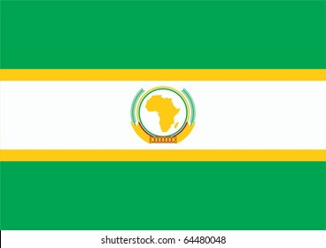 Flag of African Union.