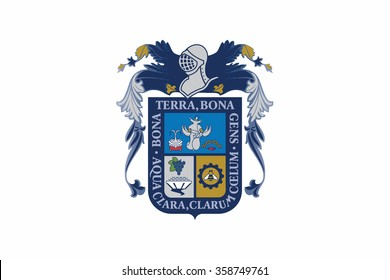 Flag of Aguascalientes states, federal district of Mexico. Vector illustration.