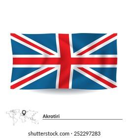 Flag of Akrotiri - vector illustration