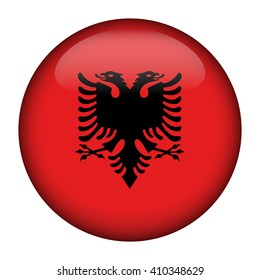 Flag of Albania Glossy Button