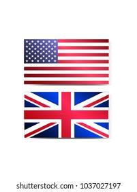 Flag of America and England