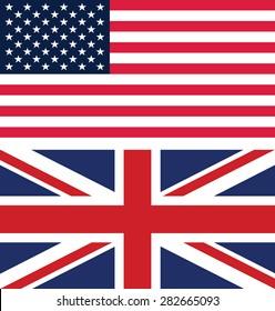 Flag of America and United Kingdom