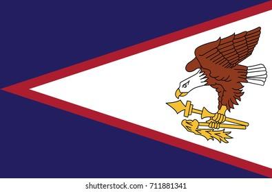 The flag of American Samoa