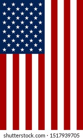 flag of american vertical background