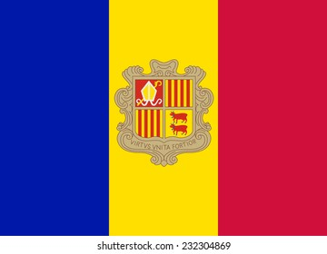 Flag of Andorra vector illustration