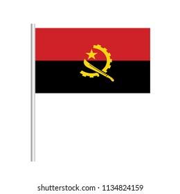 Flag of Angola.Angola Icon vector illustration,National flag for country of Angola isolated, banner vector illustration. Vector illustration eps10.
