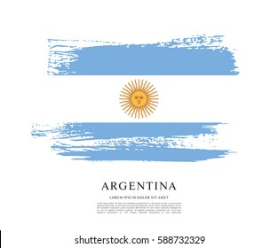 Flag of Argentina, brush stroke background