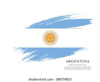 Flag of Argentina, brush stroke background