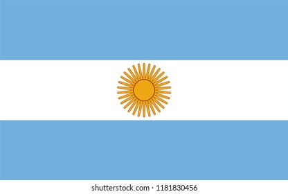Flag of argentina, flat icon. Simple, vector illustration for web or mobile app