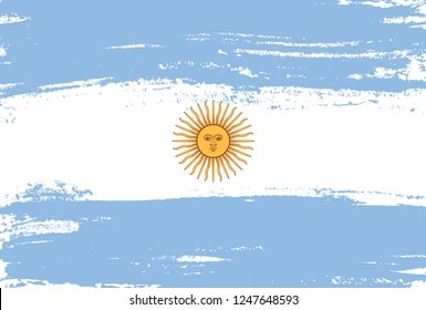 Flag of Argentina in grunge style.