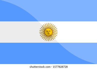 flag of argentina shiny. vector background