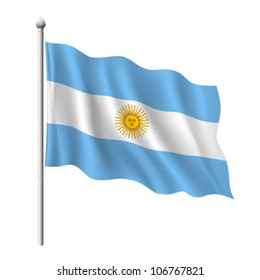 Flag of Argentina, vector illustration
