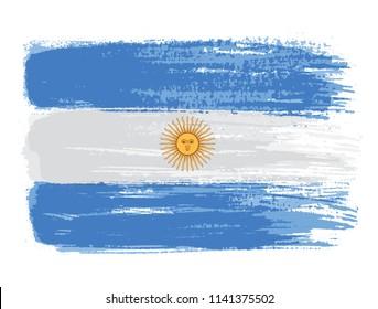Flag of Argentina.Grunge Argentina flag.