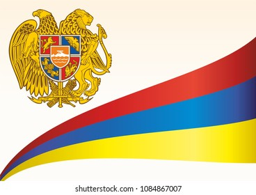 Flag of Armenia, Republic of Armenia. template for award design, an official document with the flag of Armenia. Bright, colorful vector illustration