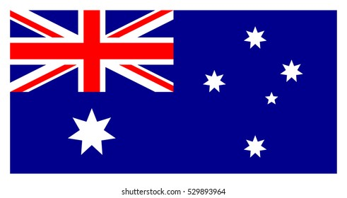 Flag of Australia. Australian National Flag. The Union Flag, the Commonwealth Star and the Southern Cross. Australian flag