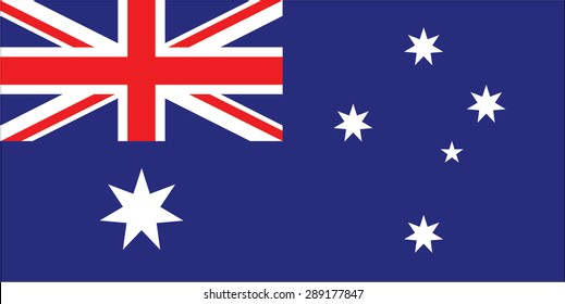 Flag of Australia with original red and blue colors and high resolution jpeg. Illustration vector.