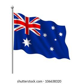 Flag of Australia, vector illustration