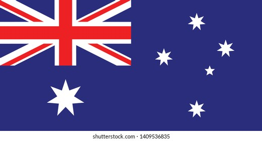 Flag of Australia vector illustration