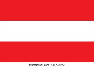 Die Flagge Österreichs mit rotem weißem Triband