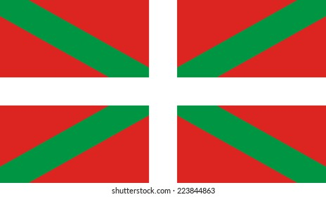 Flag of the Autonomous Community of the Basque Country. Vector.