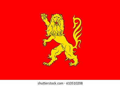 Flag of Aveyron is a department located in the north of the Occitanie region of southern France. Vector illustration