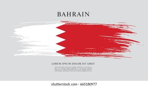 Flag of Bahrain, brush stroke background