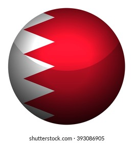 Flag of Bahrain  Glossy Button