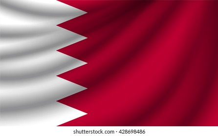 Flag of Bahrain, vector illustration