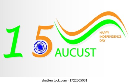 Flag banner Happy Indian Independence Day, vector art illustration.