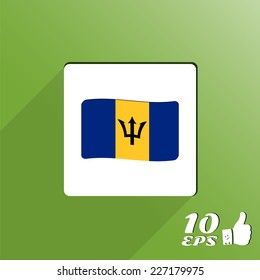 Flag of Barbados on the background. Made in vector