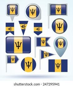 Flag of Barbados, vector illustration